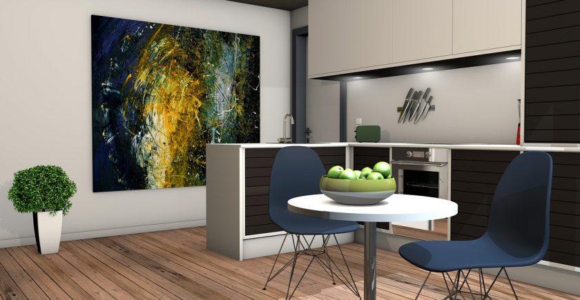 obraz w kuchni